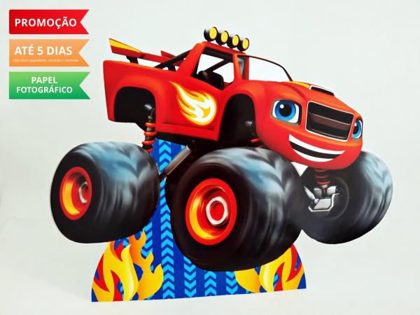 Display de mesa Blaze and the monster machine 27cm - Carro vermelho-Display de mesa Blaze and the monster machine 27cm - Carro vermelho Largura varia de acordo com a i