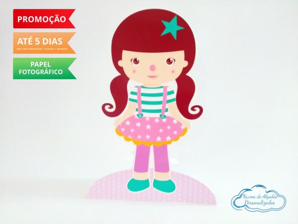 Display de mesa Circo rosa 27cm - Menina-Display de mesa Circo rosa 27cm - Menina Largura varia de acordo com a imagem.  - Possui pé de a