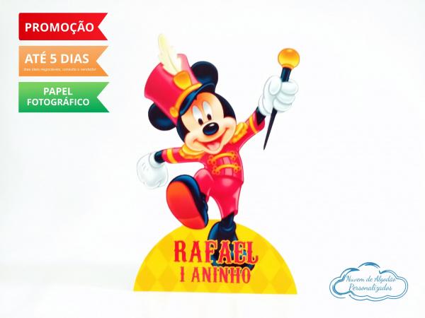 Display de mesa Circo do Mickey 27cm - Soldadinho-Display de mesa Circo do Mickey 27cm - Soldadinho  Largura varia de acordo com a imagem.  - Possu