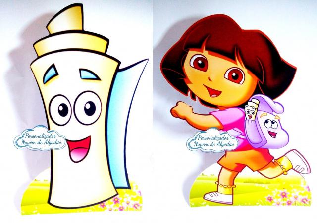 Display de mesa Dora aventureira 27cm-Display de mesa Dora aventureira 27cm  Largura varia de acordo com a imagem.  - Possui pé de apo