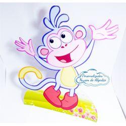 Display de mesa Dora aventureira 27cm - Macaco