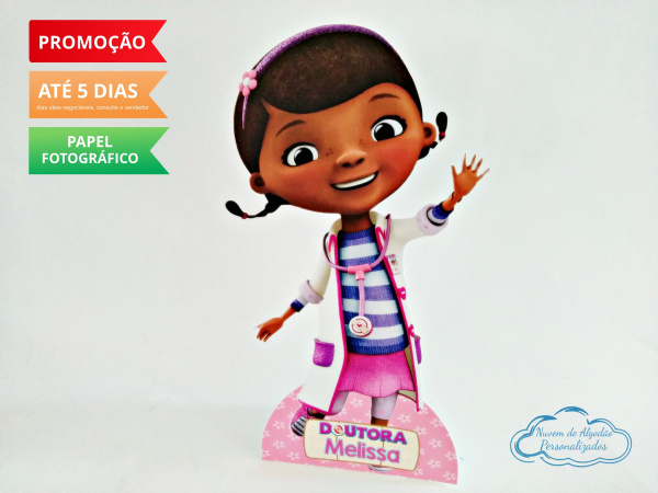 Display de mesa Dra. Brinquedos 27cm - Dottie-Display de mesa Dra. Brinquedos 27cm - Dottie Largura varia de acordo com a imagem.  - Possui pé