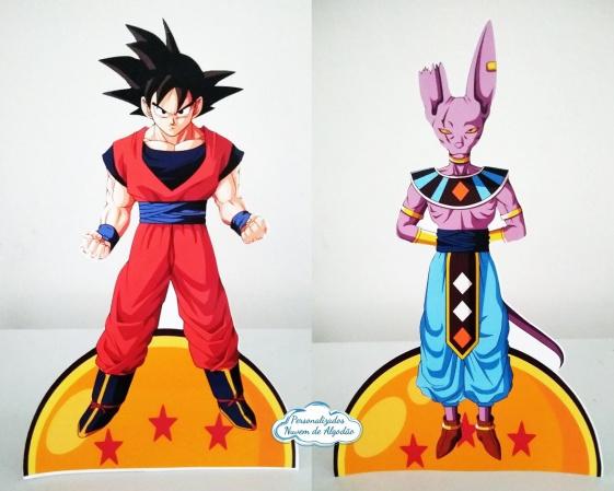Display de mesa Dragon Ball 27cm - Goku-Display de mesa Dragon Ball até 27cm - Goku Largura varia de acordo com a imagem.  - Possui pé