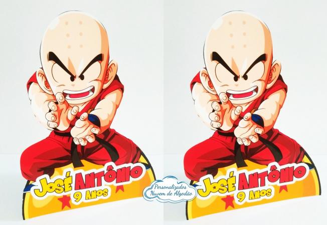 Display de mesa Dragon Ball 27cm - Kuririn-Display de mesa Dragon Ball até 27cm - Kuririn Largura varia de acordo com a imagem.  - Possui p