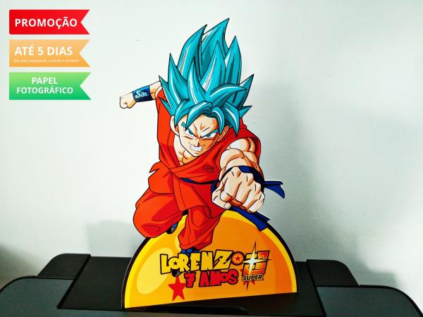 Display de mesa Dragon Ball 27cm - Super Goku-Display de mesa Dragon Ball até 27cm - Super Goku Largura varia de acordo com a imagem.  - Possu