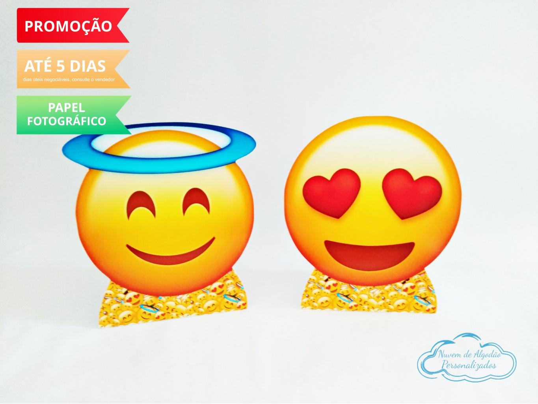 Nuvem de algodão personalizados - Display de mesa Emoji 27cm - anjo e coração