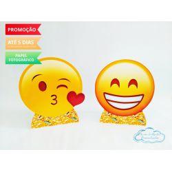 Display de mesa Emoji 27cm - beijinho e sorriso