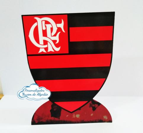Display de mesa Flamengo 27cm-Display de mesa Flamengo até 27cm  Largura varia de acordo com a imagem.  - Possui pé de apoio.