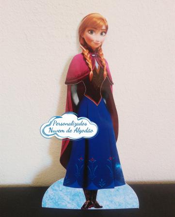 Display de mesa Frozen 27cm - Anna-Display de mesa Frozen até 27cm - Anna Largura varia de acordo com a imagem.  - Possui pé de ap