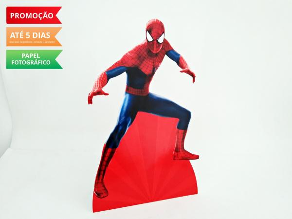 Display de mesa Homem Aranha 27cm-Display de mesa Homem Aranha até 27cm  Largura varia de acordo com a imagem.  - Possui pé de ap