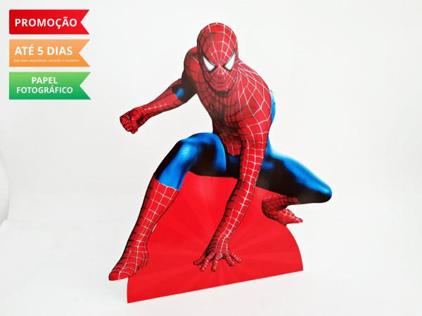 Display de mesa Homem Aranha 27cm - Aranha-Display de mesa Homem Aranha até 27cm - Aranha  Largura varia de acordo com a imagem.  - Possui
