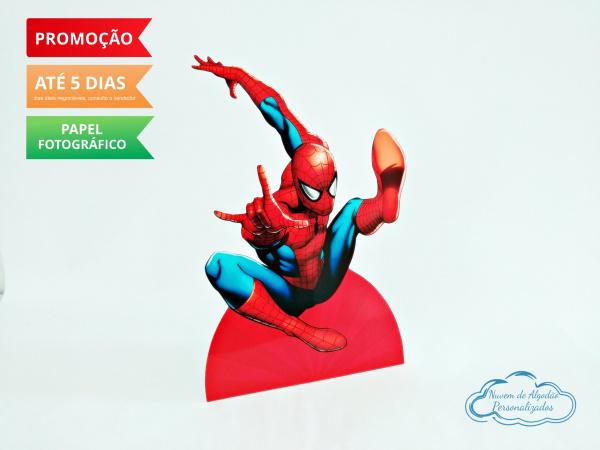 Display de mesa Homem Aranha 27cm - Pulando-Display de mesa Homem Aranha até 27cm - Pulando Largura varia de acordo com a imagem.  - Possui