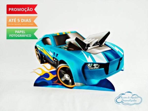 Display de mesa Hot Wheels 27cm - Carro azul-Display de mesa Hot Wheels até 27cm - Carro azul Largura varia de acordo com a imagem.  - Possui