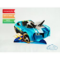 Display de mesa Hot Wheels 27cm - Carro azul
