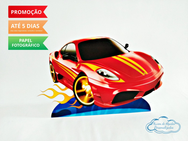 Display de mesa Hot Wheels 27cm - Carro vermelho-Display de mesa Hot Wheels até 27cm - Carro vermelho Largura varia de acordo com a imagem.  - Po