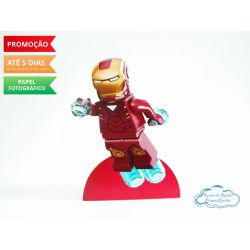 Display de mesa Lego 27cm - Homem de Ferro