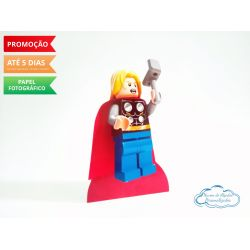 Display de mesa Lego 27cm - Thor