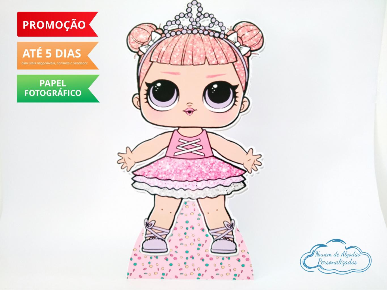 Nuvem de algodão personalizados - Display de mesa Lol Surprise 27cm - Princesa