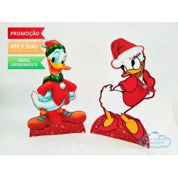Display de mesa Mickey Natal 27cm - Margarida e Pato Donald