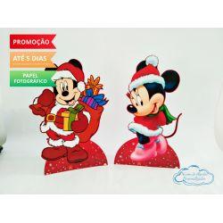 Display de mesa Mickey Natal 27cm - Mickey e Minnie