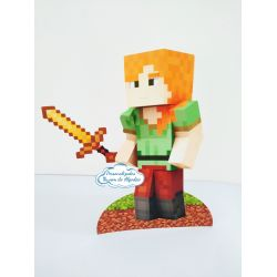 Display de mesa Minecraft 27cm - Alex