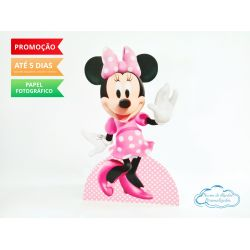Display de mesa Minnie Rosa 27cm - Rosa
