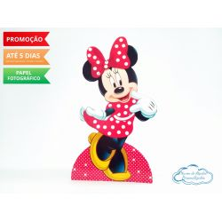 Display de mesa Minnie Vermelha 27cm - Vermelha