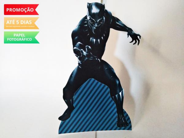 Display de mesa Pantera Negra 27cm - Negra-Display de mesa Pantera Negra até 27cm - Negra Largura varia de acordo com a imagem.  - Possui p