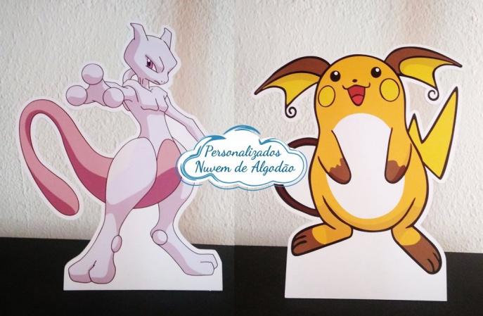 Display de mesa Pokemon 27cm - Mewtwo e Raichu-Display de mesa Pokemon até 27cm - Mewtwo e Raichu Largura varia de acordo com a imagem.  - Poss
