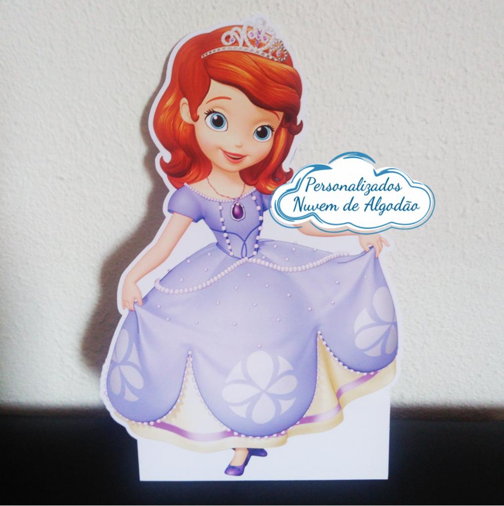 Nuvem de algodão personalizados - Display de mesa Princesa Sofia 27cm