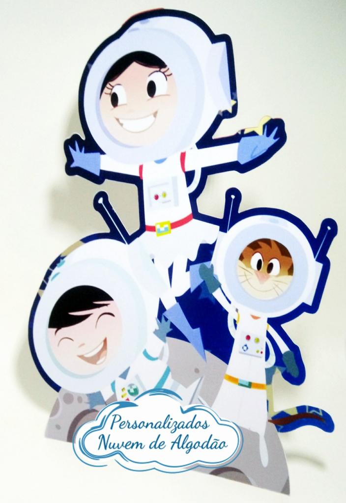 Nuvem de algodão personalizados - Display de mesa Show da luna 27cm - Astronautas
