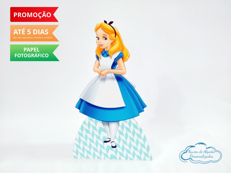 Nuvem de algodão personalizados - Display de mesa Alice no País das Maravilhas 27cm