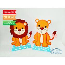 Display de mesa Arca de noé 27cm - Leão e leoa