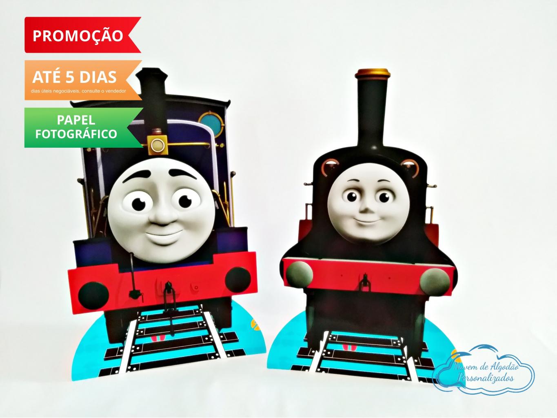 Nuvem de algodão personalizados - Display de mesa Thomas e seus amigos 27cm - Charlie e Arthur
