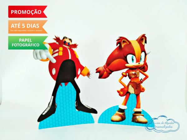 Display de mesa SONIC 19cm - Robotinyc e Sticks-Display de mesa Sonic - Robotinyc e Sticks até 19cm Largura varia de acordo com a imagem.  - Pos