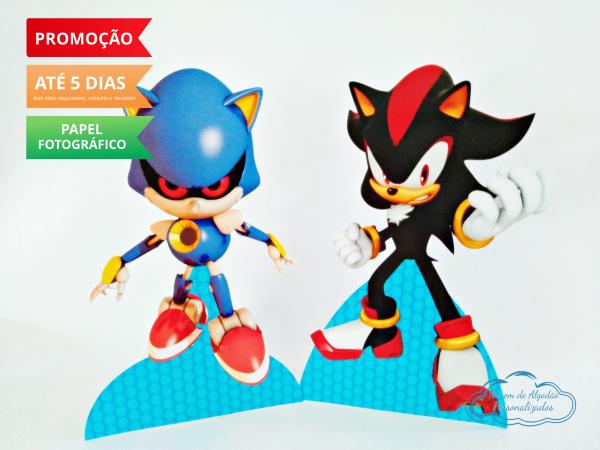 Display de mesa SONIC 19cm - Shadow e Metal Sonic-Display de mesa Sonic -  Shadow e Metal Sonic até 19cm Largura varia de acordo com a imagem.  -