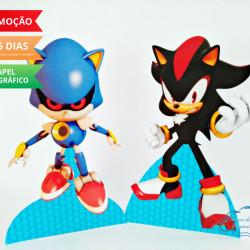 Display de mesa SONIC 19cm - Shadow e Metal Sonic