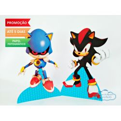 Display de mesa SONIC 19cm - Shadow e Metal Sonic