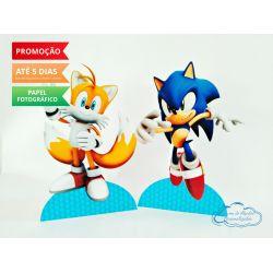 Display de mesa SONIC 19cm - Sonic e Tails