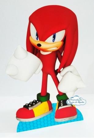 Display de mesa SONIC 27cm - Knuckles-Display de mesa Sonic - Knuckles até 27cm Largura varia de acordo com a imagem.  - Possui pé de