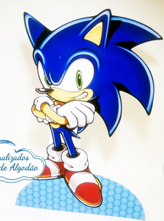 Display de mesa SONIC 39cm - Sonic-Display de mesa Sonic - Sonic até 39cm Largura varia de acordo com a imagem.  - Possui pé de ap