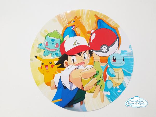 Elipse 55x55cm Pokemon-Elipse 55x55cm Pokemon  Fazemos qualquer tema  No ato da compra nos envie nome e idade para perso