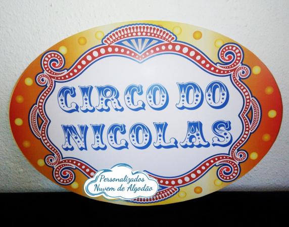 Elipse Circo M letreiro - 55x40cm-Elipse Circo M letreiro - 55x40cm  Fazemos todos os temas e cores.  Na hora do seu pedido inform