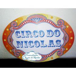 Elipse Circo M letreiro - 55x40cm