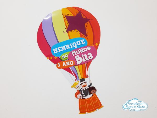 Elipse Mundo Bita balão -  51x36cm-Elipse Mundo Bita fundo do mar -  51x36cm  Fazemos todos os temas e cores.  Na hora do seu pedid
