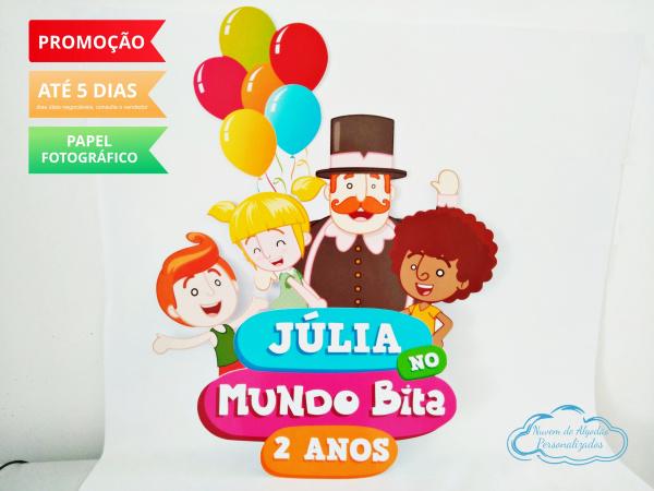 Elipse Mundo Bita balões -  60x38cm-Elipse Mundo Bita balões -  60x38cm  Fazemos todos os temas e cores.  Na hora do seu pedido inf