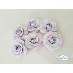 Flor de papel para topo de bolo - Tie Dye
