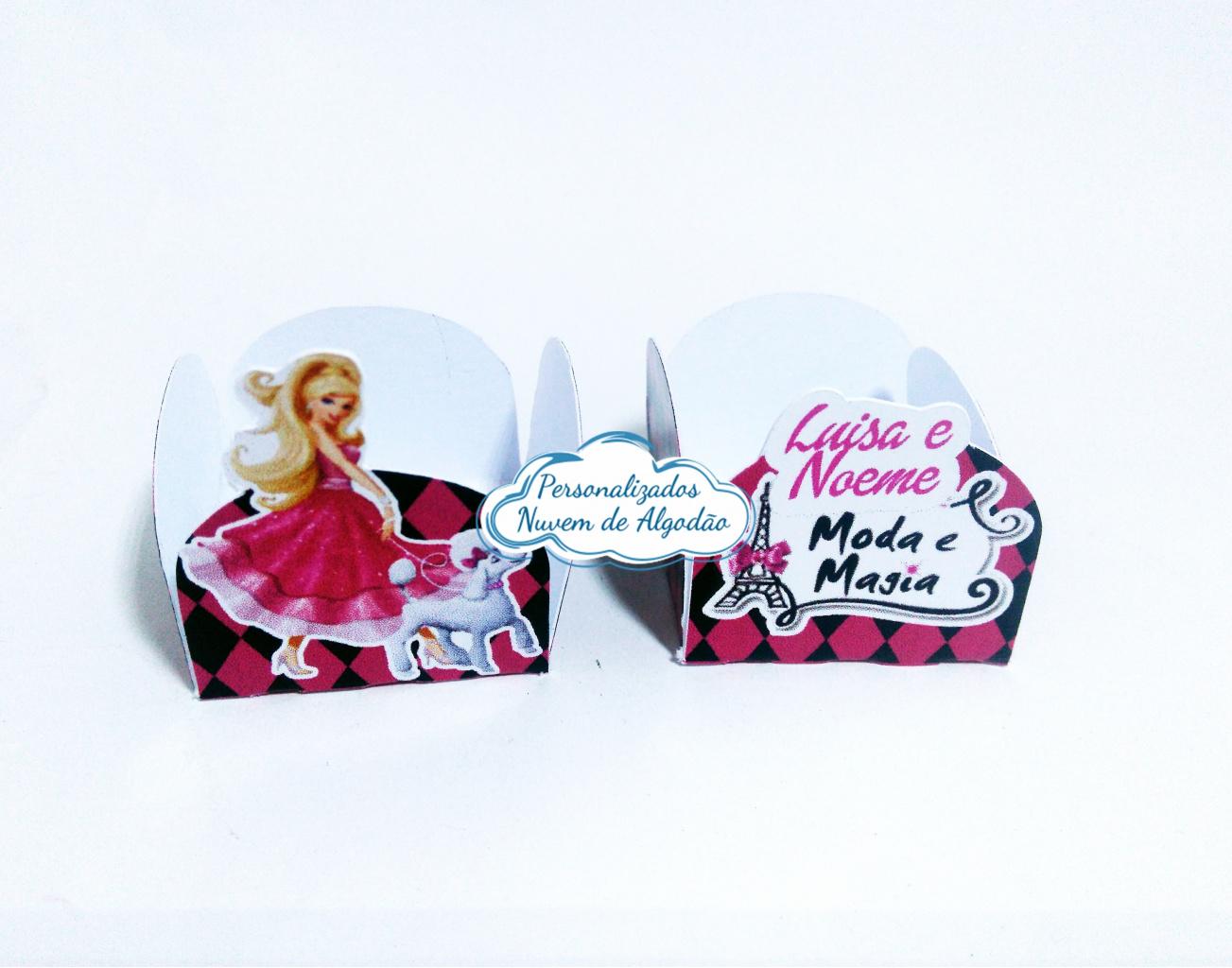 Nuvem de algodão personalizados - Forminha Barbie