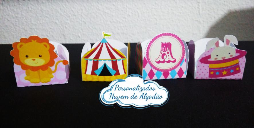 Forminha Circo rosa-Forminha Circo rosa Fazemos em qualquer tema. Envie nome e idade para personalização.  - Produ