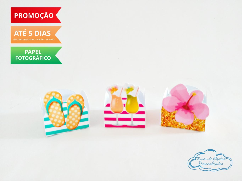 Nuvem de algodão personalizados - Forminha Flamingo Tropical